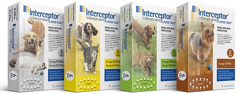 Interceptor Heartworm for dogs