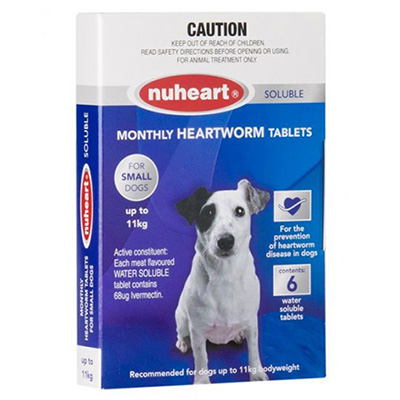 Nuheart - Generic Heartgard Plus Nuheart Small Dogs upto 25lbs (Blue)