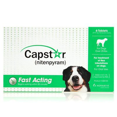 Capstar  Large Dog 57 mg 25.1-125 lbs Green