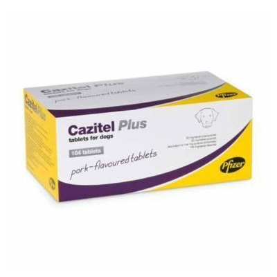 Cazitel Plus Tablets for Small and Medium Dogs 22 lbs (10 kg)