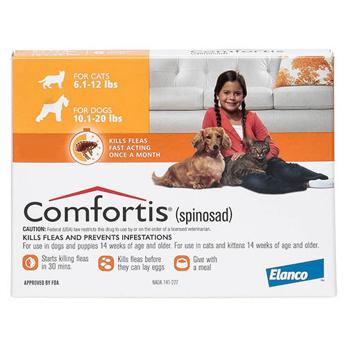 Comfortis Orange For Dogs 4.5 - 9 kg (10 - 20lbs)