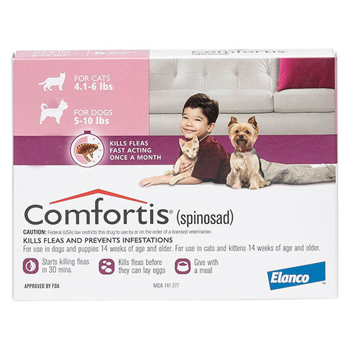 Comfortis Pink For Dogs 2.3 - 4.5 kg (5 -10 lbs)