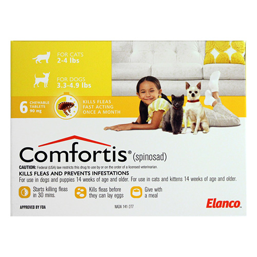 Comfortis for Small Cats 4 - 6lbs (1.9-2.8 kg) (Yellow)