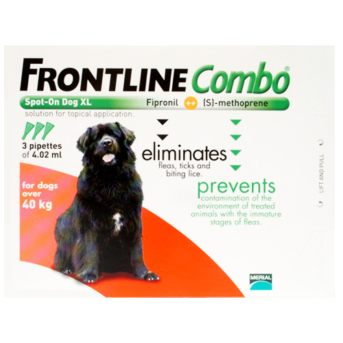 Frontline Plus (Combo) for Extra Large Dogs over 89 lbs (Red)