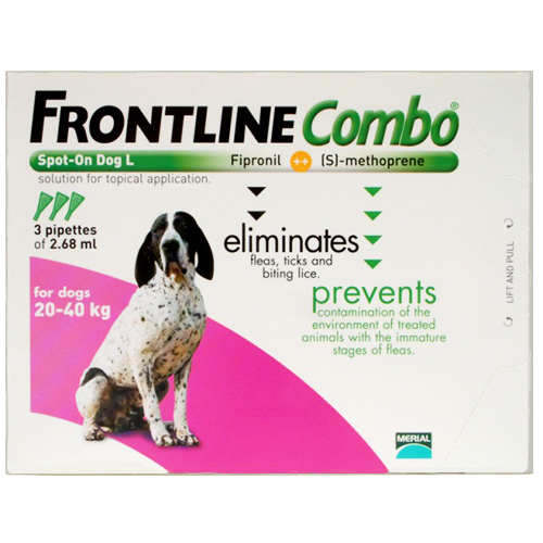 Frontline Plus (Combo) for Large Dogs 45-88 lbs (Purple)