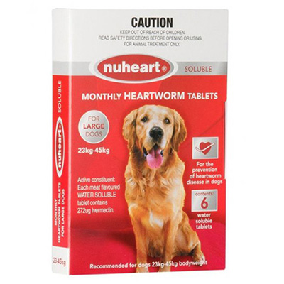 Heartgard Plus Generic Nuheart for Large Dogs 51-100lbs (Red)