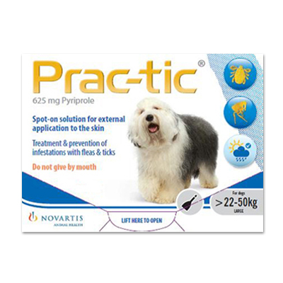 Prac-Tic Spot On (White) for Large Dog - 50-110 lbs