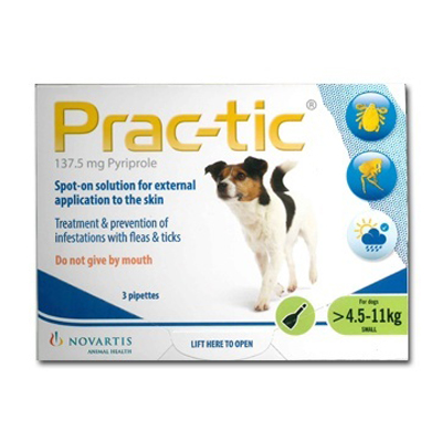 Prac-Tic Spot On (Green) for Small Dog - 10-25 lbs