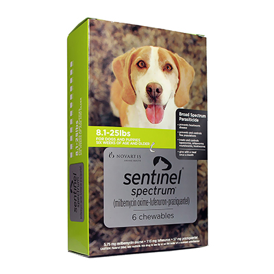 Sentinel Spectrum Green for Dogs 8.1-25 lbs