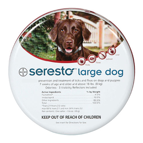 Seresto Flea and Tick Collar For Large Dogs (over 18 lbs) 27.5 inch (70 cm)