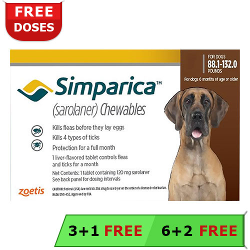 Simparica Chewable Tablet For Dogs Buy Simparica For